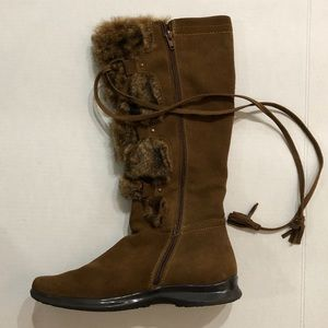 Knee high suede leather Sonoma Boots size 10